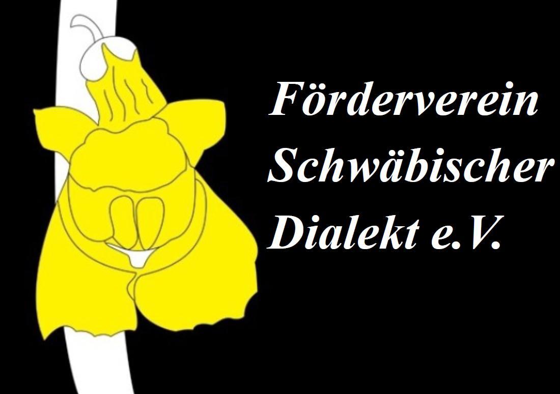 Schwäbischer Dialekt mit Schriftzug